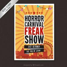 horror carnival poster