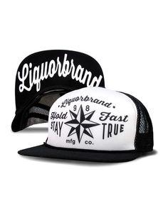 Liquorbrand Hold Fast Stay True Trucker Hat
