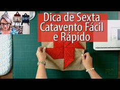 BLOCO CATAVENTO FÁCIL E RÁPIDO -Dica de Sexta (Tutorial Patchwork) - YouTube Tutorial Patchwork, Sewing Techniques, Quilt Blocks, Diy And Crafts, Patches, Quilts, Youtube, Felting, Cute Quilts