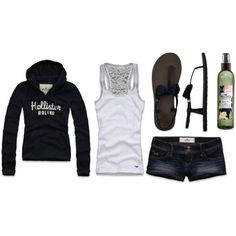 Hollister Co., created by alyssakrause on Polyvore