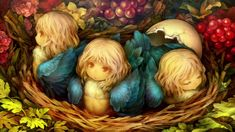 View an image titled 'Harpy Chicks Art' in our Dragon's Crown art gallery featuring official character designs, concept art, and promo pictures. Dragons Crown, Fantasy Artwork, Fantasy Creatures, Mythical Creatures, Crown Art, Fantasy Beasts, Egg Art, Monster Girl, Dark Souls
