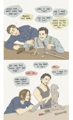 Bucky getting excited about technology (and pissing off the Starks) 1943-2014.
