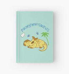 Cute Pachyrhinosaurus Hardcover Journal #pachycephalosaurus #dinosaurs #ceratopsian #cute #jurassic