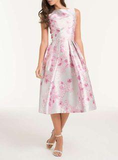 Women's Clothing Chi Chi London Raspberry Pink Bridal Rose Lula Skater Skirt Bnwt