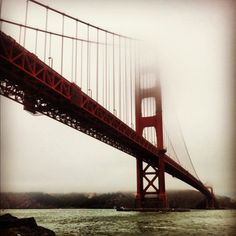 Golden Gate Bridge on a foggy day   #architecture #golden #gate #bridge #foggy