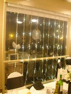 LED Rain Curtains make a beautiful accent piece for weddings, special events or...