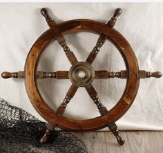 Wood & Brass 24  Ships Wheel $40