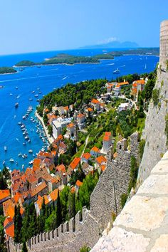 Views from the fort in Hvar Croatia