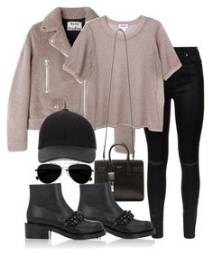"""""""Untitled #1462"""" by emmalovesclothes20 ❤ liked on Polyvore featuring 7 For All Mankind, Acne Studios, Monki, Calvin Klein, Yves Saint Laurent, Canali and Givenchy"""