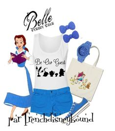 """""""Belle (Beauty and the Beast)"""" by frenchdisneybound ❤ liked on Polyvore featuring Disney, Blanc Noir, J Brand, Converse, Kate Marie, Toy Watch, women's clothing, women, female and woman"""