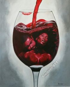 Image Of — Manasseh_art ~ Intoxicating Black Love Artwork, Black Art Pictures, Beautiful Artwork, Amazing Artwork, Sexy Black Art, Black Women Art, Black Man, African American Art, African Art
