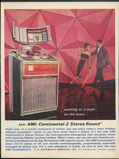 AMi Continental 2 Stereo Round Jukebox ad 1961