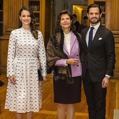 "November 21, 2017 || Princess Sofia, Prince Carl Philip and Queen Silvia attended a Symposium on Dyslexia ""Differences equal to strengths"" at the Royal Palace in Stockholm, Sweden."