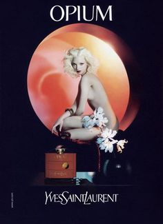 YSL Opium ad by M and Mariacarla