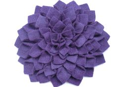 XL Dark Purple Dahlia Felt Hair Flower Accessory from my Etsy Shop! $8