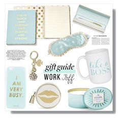 """#587 - Gift Guide: Work BFF"" by lilmissmegan ❤ liked on Polyvore featuring Kate Spade, Moon and Lola, Miss Selfridge, Dabney Lee, Voluspa, giftguide, gift, BFF and holidaygiftguide"