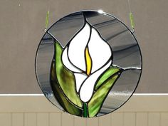 Stained Glass Calla Lily Flower Suncatcher by FoxStainedGlass
