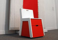 Museum chair, the chair can be used as mobile storage, a seat for tired visitors or a stage for children to address the group.