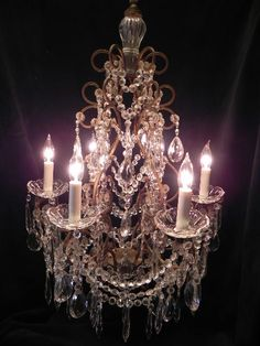 Gorgeous Crystal Chandelier by FoundinFrance on Etsy,