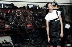 Editorial for HUF Magazine Photographer: Cinzia Incorvaia Art Director/ Stylist: Giulia Calà Hair & Make up: Annalisa Falletta Designer: Francesca Passanisi Model: Debora Ietro
