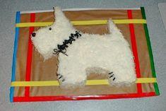 Westie Dog cake instructions!
