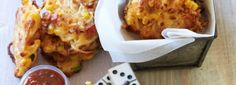 Bacon corn fritter