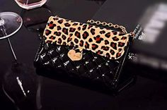 Luxury Charm black Leopard Leather Handbag chain Wallet Purse Cover Case For Smart Mobile Cell Phones (Alcatel OneTouch Fierce XL 5054) - http://leather-handbags-shop.com/luxury-charm-black-leopard-leather-handbag-chain-wallet-purse-cover-case-for-smart-mobile-cell-phones-alcatel-onetouch-fierce-xl-5054/