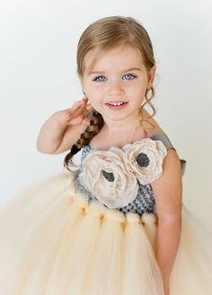 Flower Girl Tutu Dress in Anastasia with by The Little Pea Boutique