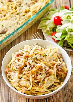 Bacon and Beef Pasta CasseroleReally nice recipes. Every  Mein Blog: Alles rund um die Themen Genuss & Geschmack  Kochen Backen Braten Vorspeisen Hauptgerichte und Desserts # Hashtag