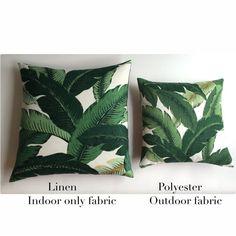 Outdoor Dark Green Tropical Jungle Zipper Pillow by Pillomatic