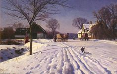 We are professional Peder Mork Monsted supplier and manufacturer in China.We can produce Peder Mork Monsted according to your requirements.More types of Peder Mork Monsted wanted,please contact us right now! Painting Snow, Winter Painting, Winter Art, Painting Art, Farm Paintings, Landscape Paintings, Albert Bierstadt, Country Art, World Of Color