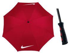 Nike 62'' Windproof Golf Umbrella - Red/White