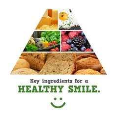A BALANCED DIET will give your mouth the nutrients it needs! Choose foods low in sugar, and less-processed!