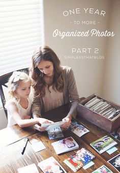 Tips for organizing your printed photos. This is the hardest thing for me to get organized!