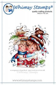 """Whimsy Stamps/Wee Stamps """"""""Friendship is the Greatest Gift"""""""" Rubber Stamp"""