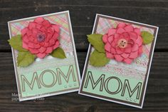 Mother's Day card #cricut flower shoppe