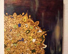 ORIGINAL de arte: Mandala de pirograbado de septiembre por tuffjulz