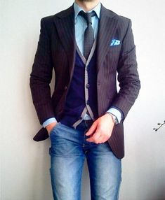 Fancy - Striped Wool Blazer