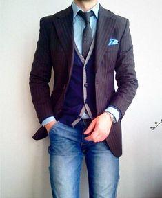 Fancy - Striped Wool Blazer