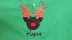 Check out this item in my Etsy shop https://www.etsy.com/listing/214306603/reindeer-with-christmas-lights-with-name