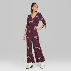2c6c469ef90b Women s Floral Print Strappy Ruffle Wrap Jumpsuit - Xhilaration ...