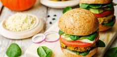 Pumpkin, chickpea, black bean, and zucchini burger