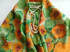 scarf original exclusivesilk square. bright april by jeansandsilk