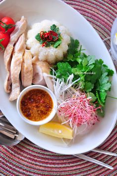 Asian Appetizers, Asian Snacks, Asian Foods, Appetizer Recipes, Hainanese Chicken Rice Recipe, Chicken Rice Recipes, Japanese Recipes, Asian Recipes, Ethnic Recipes