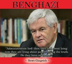 """Newt always has a way with words! ~ """"Administration lied: then they lied about lying: now they are lying about people telling the truth. Do they have no shame?"""""""