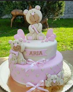 Fofura Regrann from Babyshower, Birthday Cake, Children, Instagram, Desserts, Cakes, Pastries, Creativity, Bears