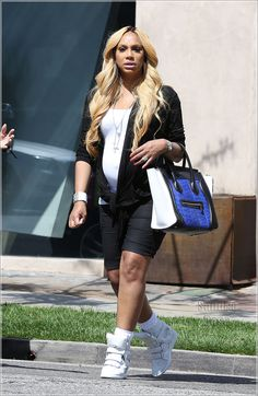Tamar Braxton: Celine Calfskin bag