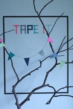 Køb Masking Tape i flotte farver online - kreativ dekorationstape billigt til sa