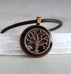black tree of life necklace tree necklace mens by NatureWithYou