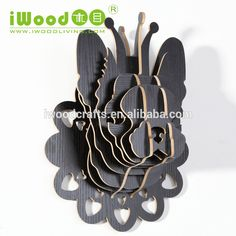High quality Wooden Bulldog Head wall decor, View decorative deer head wall decor, iWood Product Details from Guangzhou iWood Crafts Co., Limited on Alibaba.com